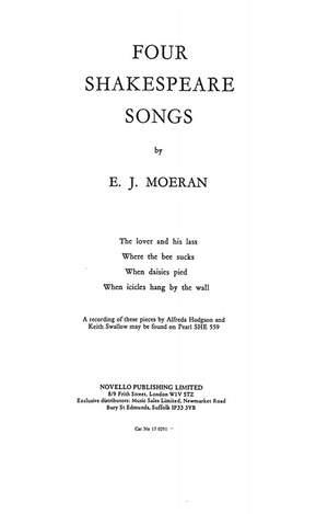 E.J Morean: Four Shakespeare Songs