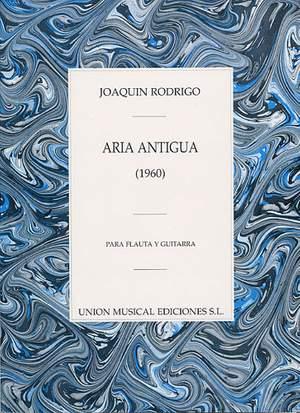 Joaquín Rodrigo: Aria Antigua Para Flauta Y Guitarra