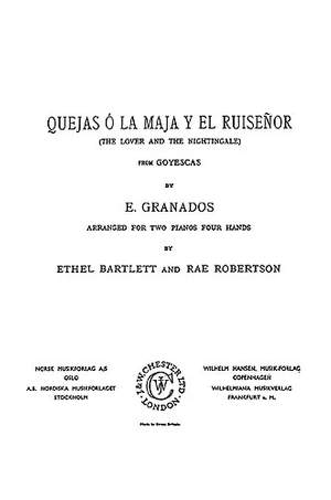 Enrique Granados: The Lover and the Nightingale For Two Pianos