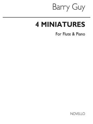 Barry Guy: 4 Miniatures for Flute And Piano