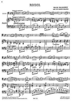 Selim Palmgren: Rococo for Cello and Piano