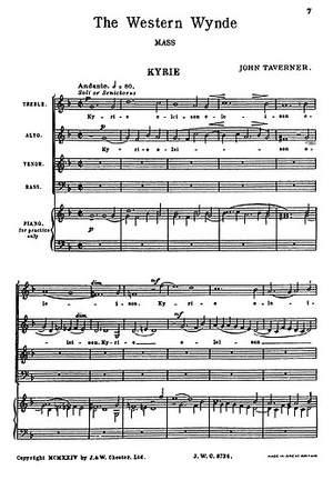 John Taverner: The Western Wynde Mass