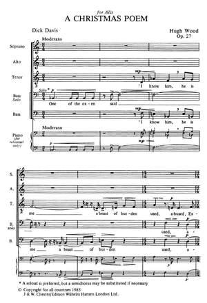 Hugh Wood: A Christmas Poem Op.27