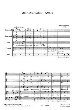 Lennox Berkeley: Ubi Caritas Et Amor Op.96 No.2