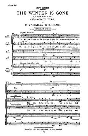 Ralph Vaughan Williams: The Winter Is Gone