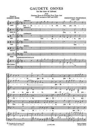 Michael Praetorius: Gaudete Omnes
