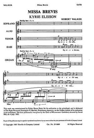 Robert Walker: Missa Brevis