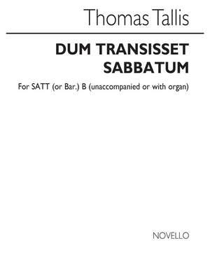 Thomas Tallis: Dum Transissent Sabbatum