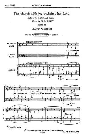 William Lloyd Webber: The Church With Joy Acclaims Her Lord