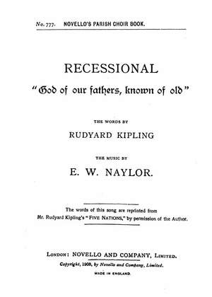 Edward W. Naylor: God Of Our Fathers Known Of Old