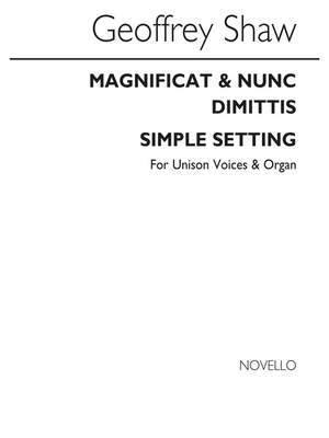 Geoffrey Shaw: Magnificat And Nunc Dimittis Simple Setting