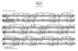 David Lang: Vent for Flute and Piano
