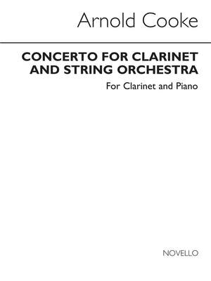 Arnold Cooke: Concerto For Clarinet (with Piano reduction)
