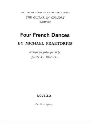 Michael Praetorius: Four French Dances for Guitar