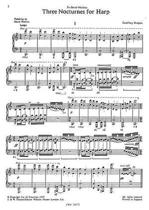 Geoffrey Burgon: Three Nocturnes For Harp