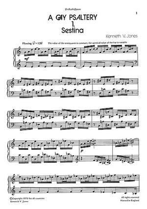 K.V. Jones: A Gay Psaltery for Harpsichord