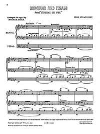 Igor Stravinsky: Berceuse And Finale From The Firebird (Organ)
