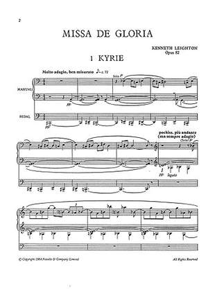 Kenneth Leighton: Missa De Gloria Op. 82