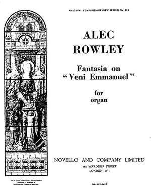 Alec Rowley: Fantasy On Veni Emmanuel