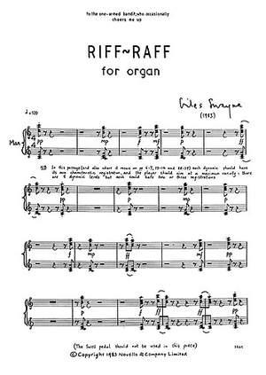 Giles Swayne: Riff-Raff for Organ