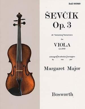 Sevcik: 40 Variations for Viola, op. 3