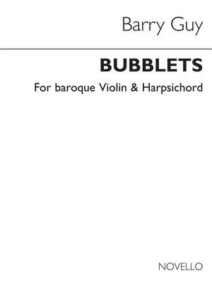 Barry Guy: Bubblets for Baroque Violin and Harpsichord