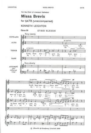Kenneth Leighton: Missa Brevis