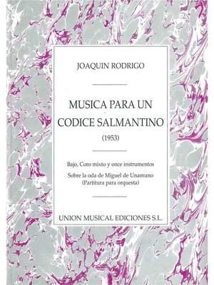 Joaquín Rodrigo: Musica Para Un Codice Salmantino