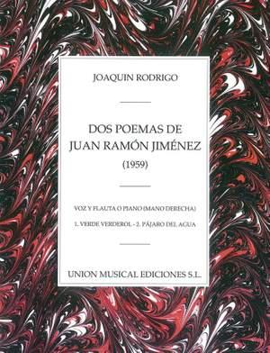 Joaquín Rodrigo: Dos Poemas De Juan Ramon Jimenez