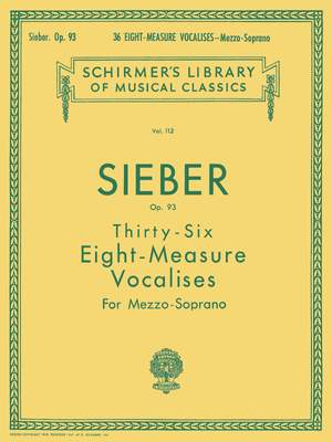 F. Sieber: 36 Eight-Measure Vocalises Op.93