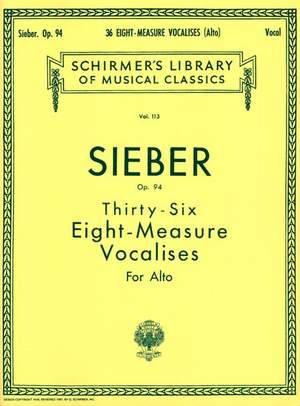 F. Sieber: 36 Eight-Measure Vocalises Op.94