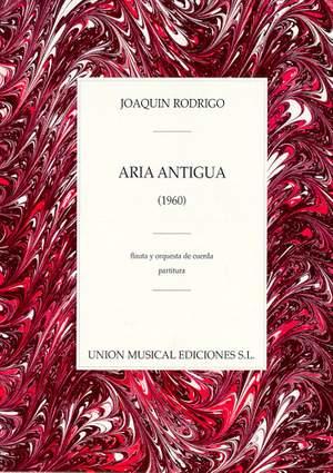 Joaquín Rodrigo: Aria Antigua For Flute And String Orchestra
