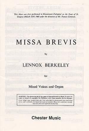 Lennox Berkeley: Missa Brevis Op.57 (Original Latin Version)