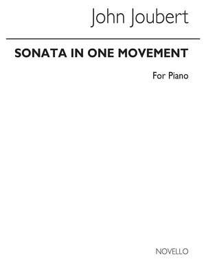 John Joubert: Sonata In One Movement For Piano