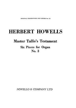 Herbert Howells: Master Tallis's Testament For
