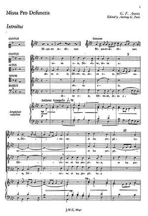 Felice Anerio: Missa Pro Defunctis