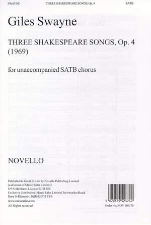 Giles Swayne: Three Shakespeare Songs