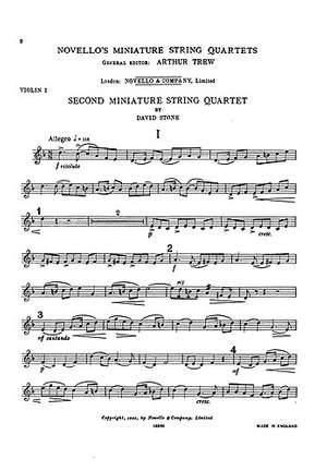 David Stone: Miniature Quartet No.2 Parts