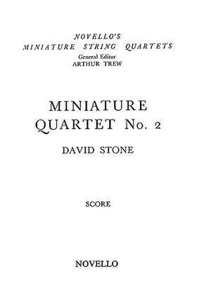 David Stone: Miniature Quartet No.2 Score