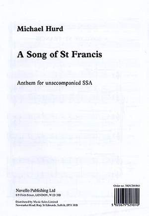 Michael Hurd: A Song Of Saint Francis