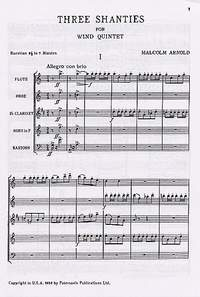 Malcolm Arnold: Three Shanties For Wind Quintet Op.4