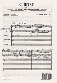 Malcolm Arnold: Quintet for Brass Op. 73