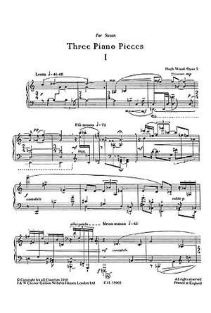 Hugh Wood: Piano Pieces(3)