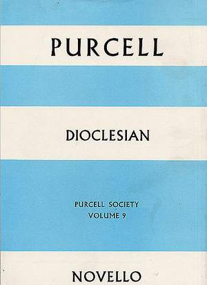 Henry Purcell: Purcell Society Volume 9