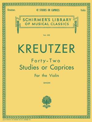 Rudolf Kreutzer: 42 Studies or Caprices