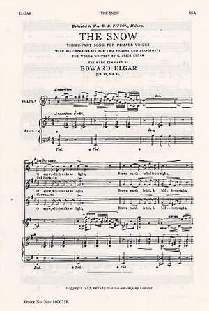 Edward Elgar: The Snow Op.26 No.1
