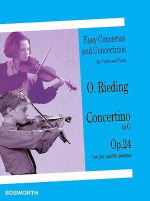 Oscar Rieding: Concertino in G Op. 24