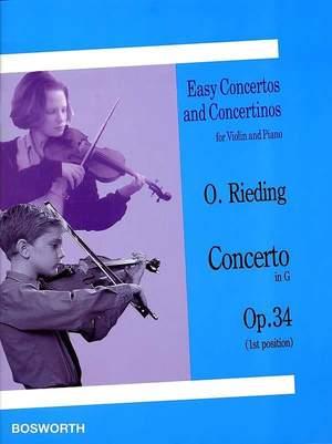 Oscar Rieding: Concerto in G Op. 34