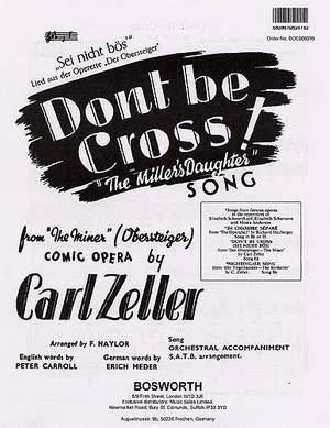 Don't Be Cross (Sei Nicht Bos)