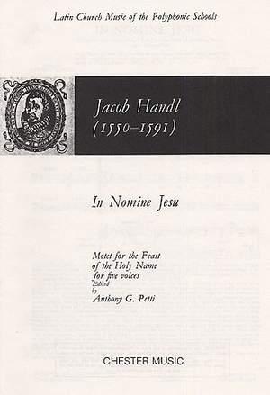 Jacob Handl: In Nomine Jesu